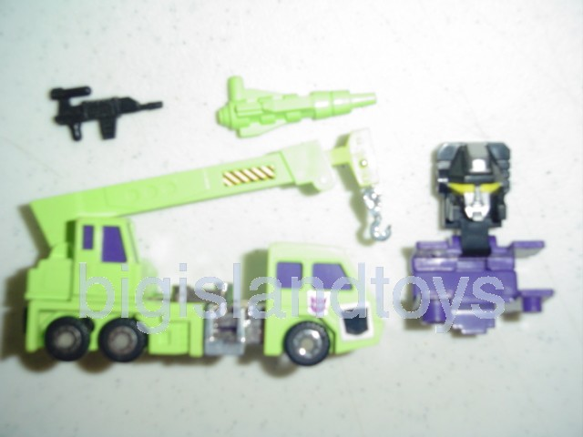 Transformers Generation One G1 1985  Constructicon Hook