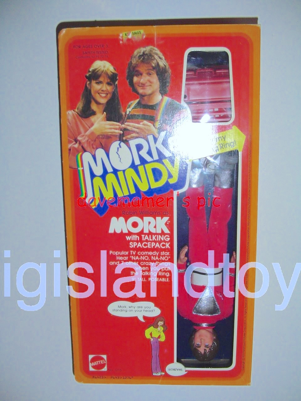 Mork & Mindy    Robin Williams as Mork with Talking Spacepack
