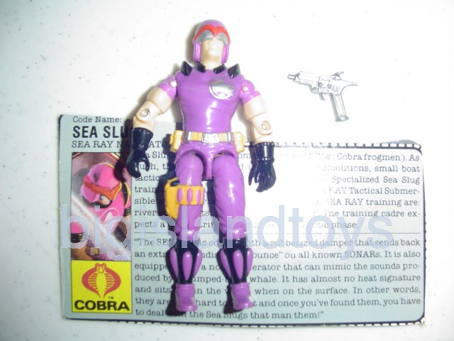 GI Joe 1987 Figures   Sea Slug Sea Ray Drvier