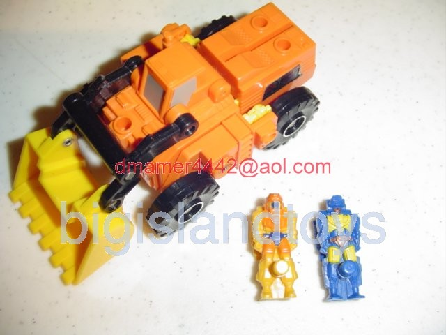 Transformers Generation One G1 1988  Scoop with Tracer and Holepunch