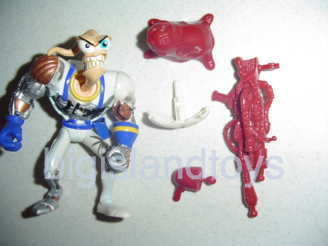 Earthworm Jim    Battle Damage Earthworm JimRed Snott