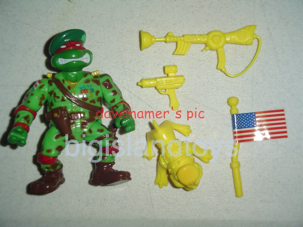 Teenage Mutant Ninja Turtles 1991 Figures       Raph the Teen Green Beret