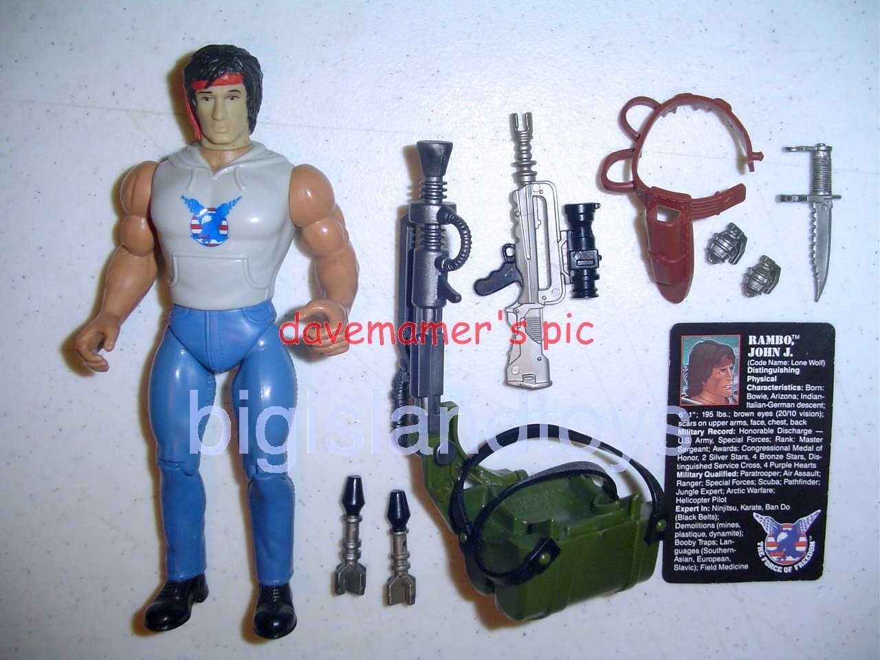 Rambo and the Forces of Freedom    Fire Power RamboLarge Head