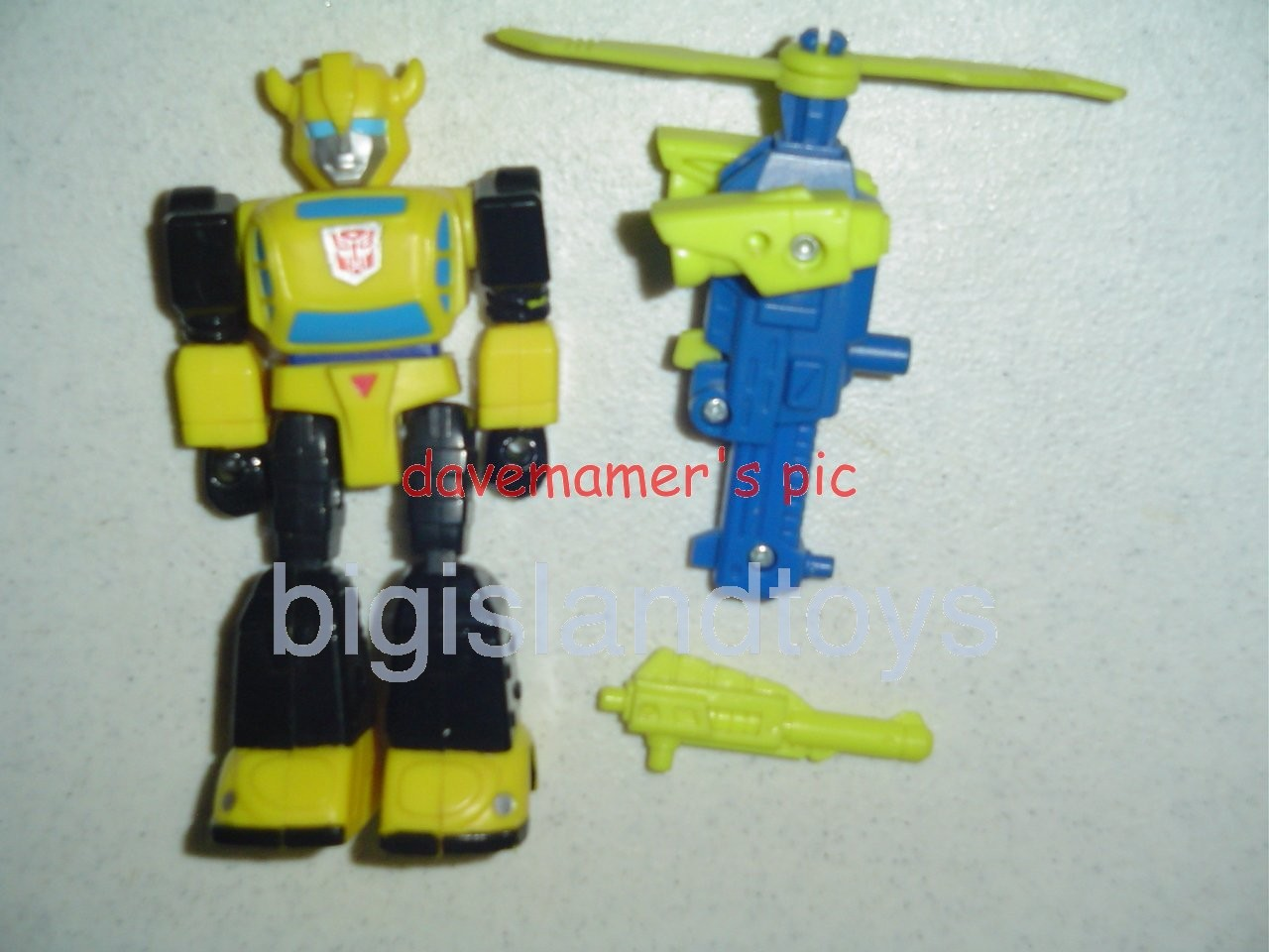 Transformers Generation One G1 1990  Action Masters Bumblebee with Heli-Pack