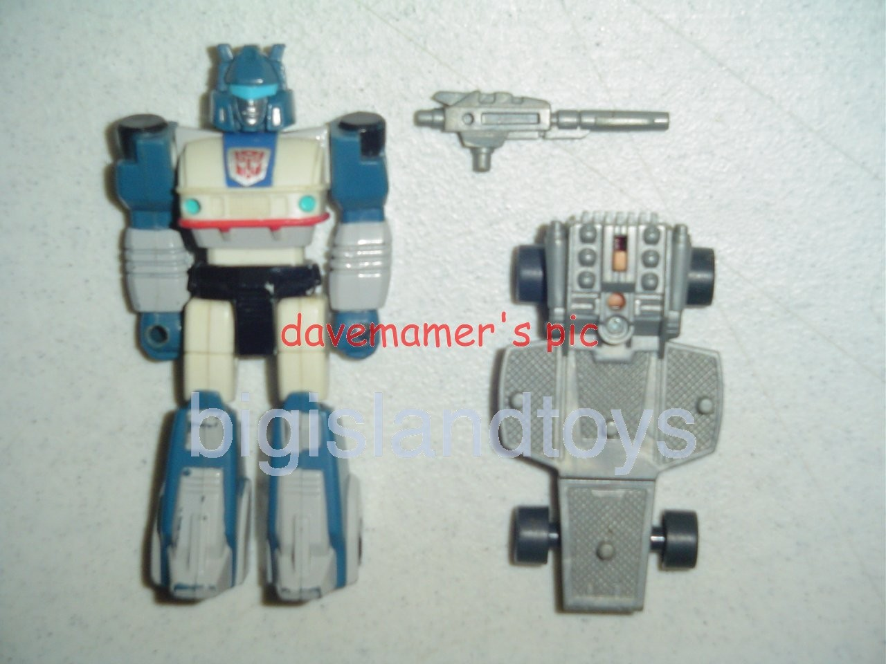 Transformers Generation One G1 1990  Action Masters Jazz with Turbo Board