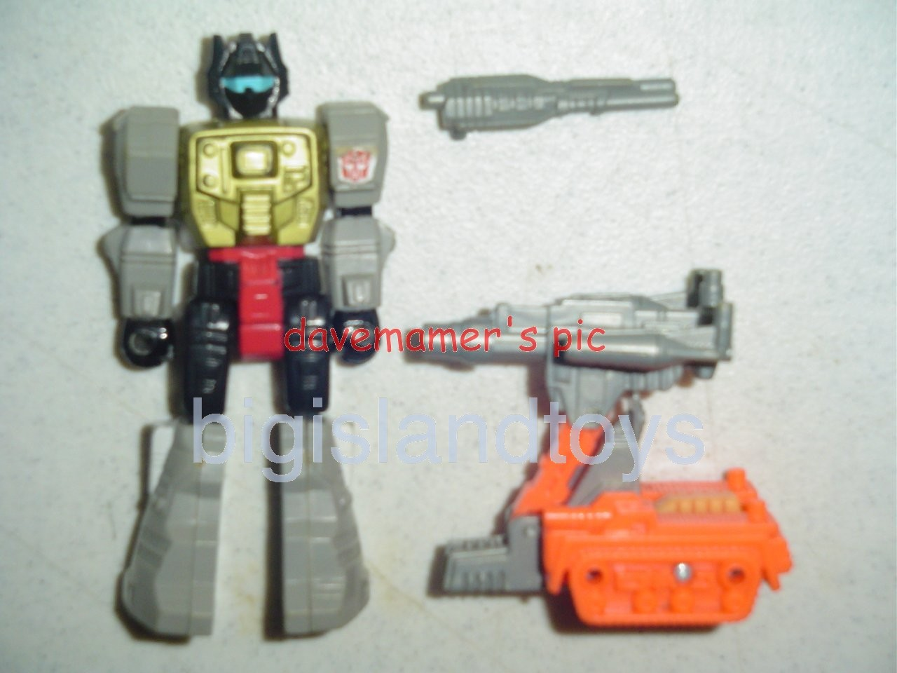 Transformers Generation One G1 1990  Action Masters Grimlock with Anti Tank Cannon