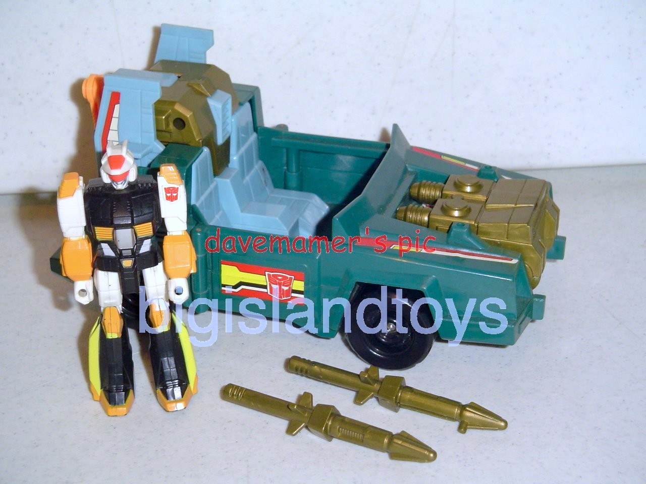 Transformers Generation One G1 1990  Action Masters Sprocket with Attack Cruiser