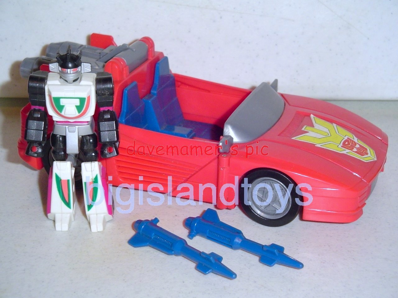 Transformers Generation One G1 1990  Action Masters Wheeljack with Turbo Racer