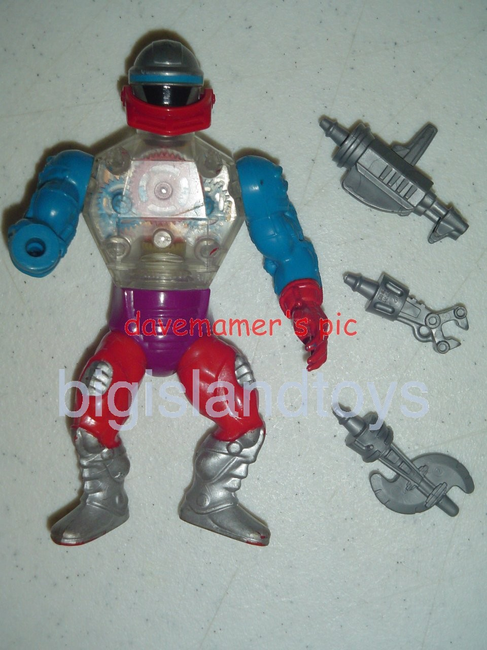 Masters of the Universe Series 4 1985   RobotoSilver boots