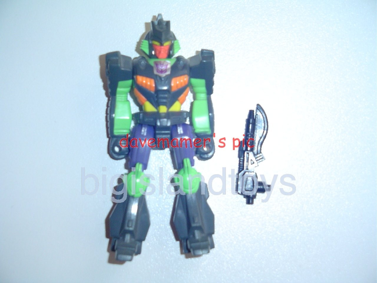 Transformers Generation One G1 1990  Action Masters Banzai-Tron with Razor-Sharp