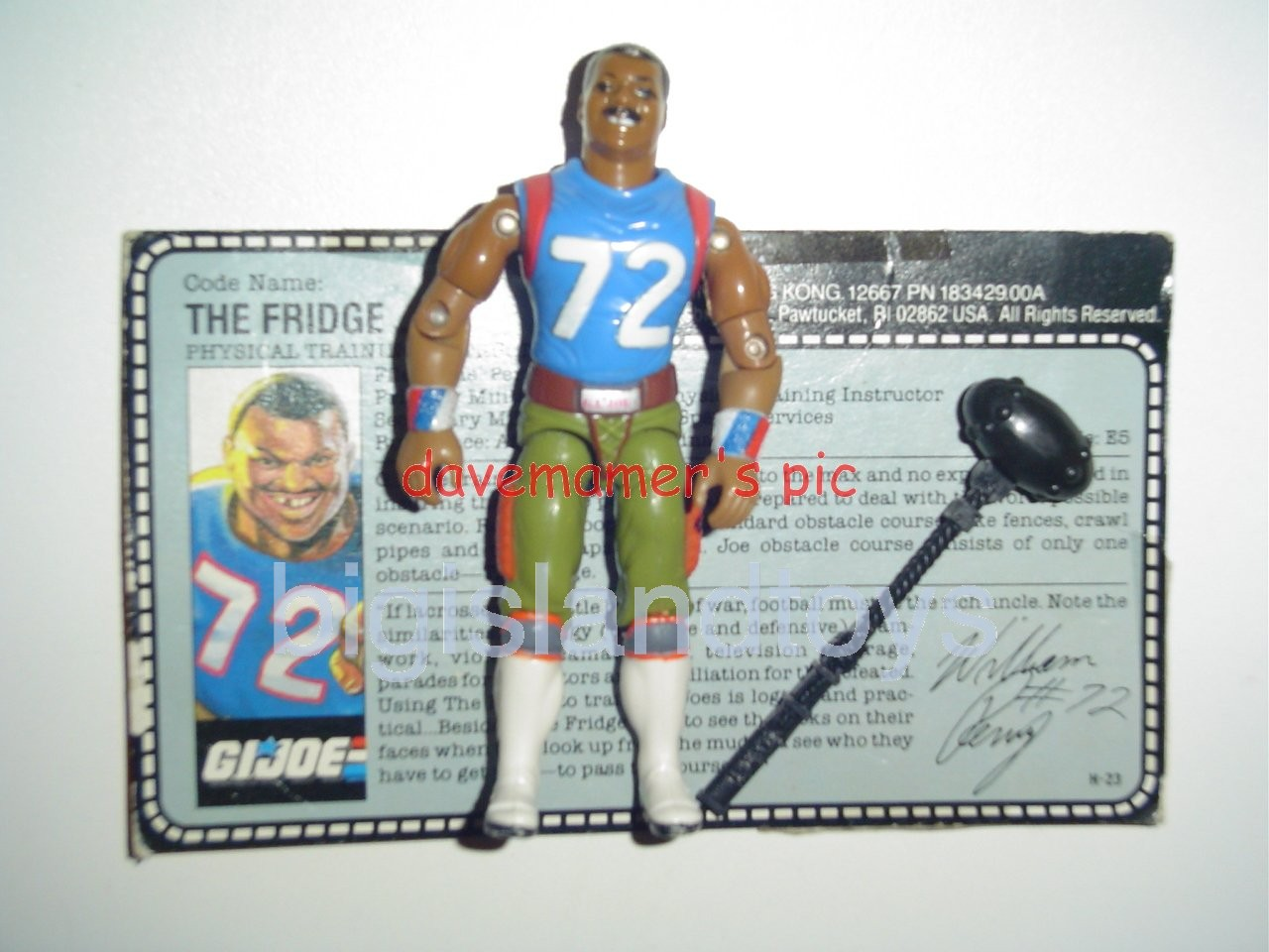 GI Joe 1987 Figures   The Fridge William Perry