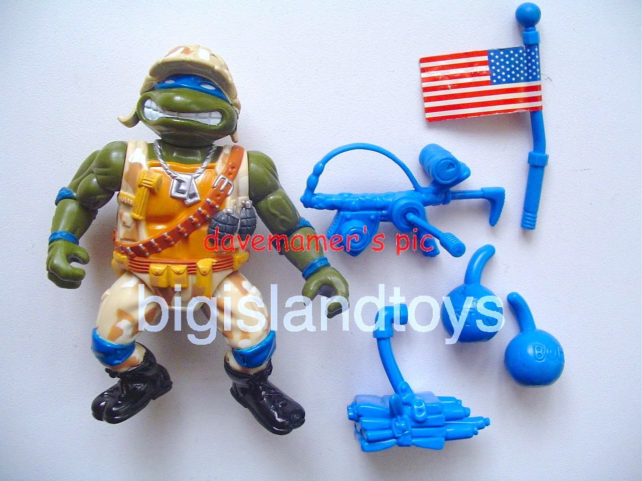 Teenage Mutant Ninja Turtles 1991 Figures   Lieutenant Leo
