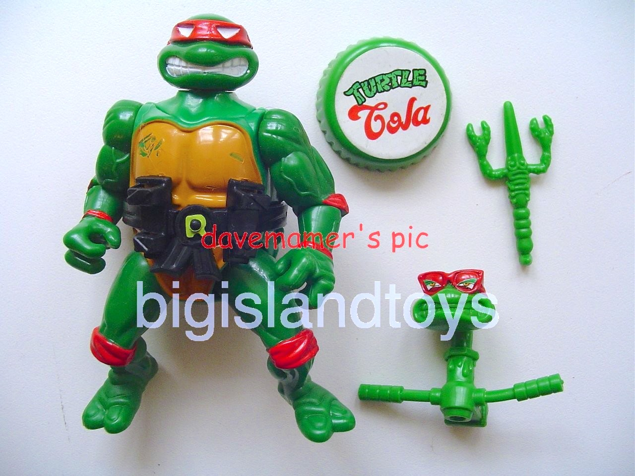 Teenage Mutant Ninja Turtles 1991 Figures       Headdroppin Raph