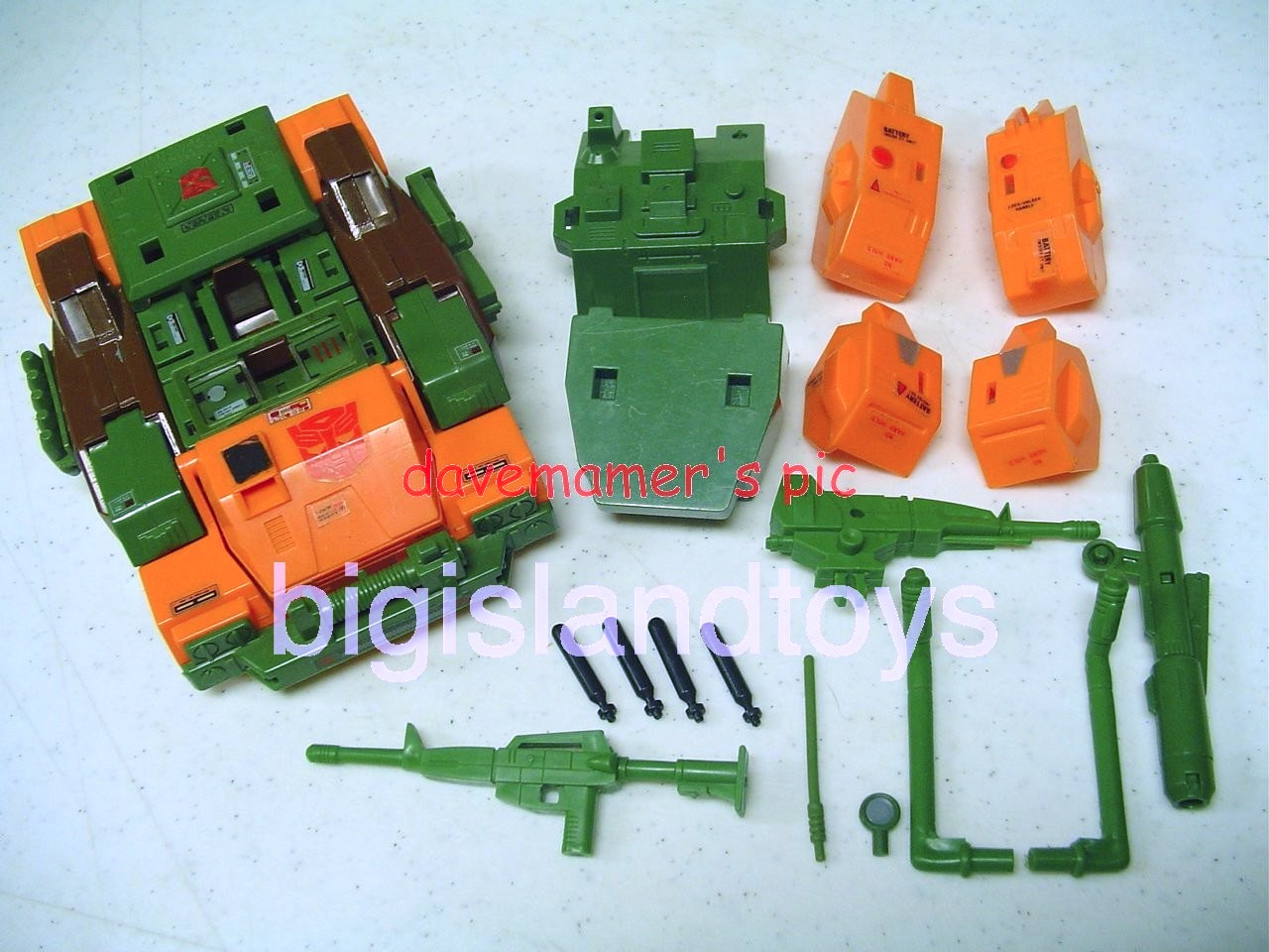Transformers Generation One G1 1985  Roadbuster