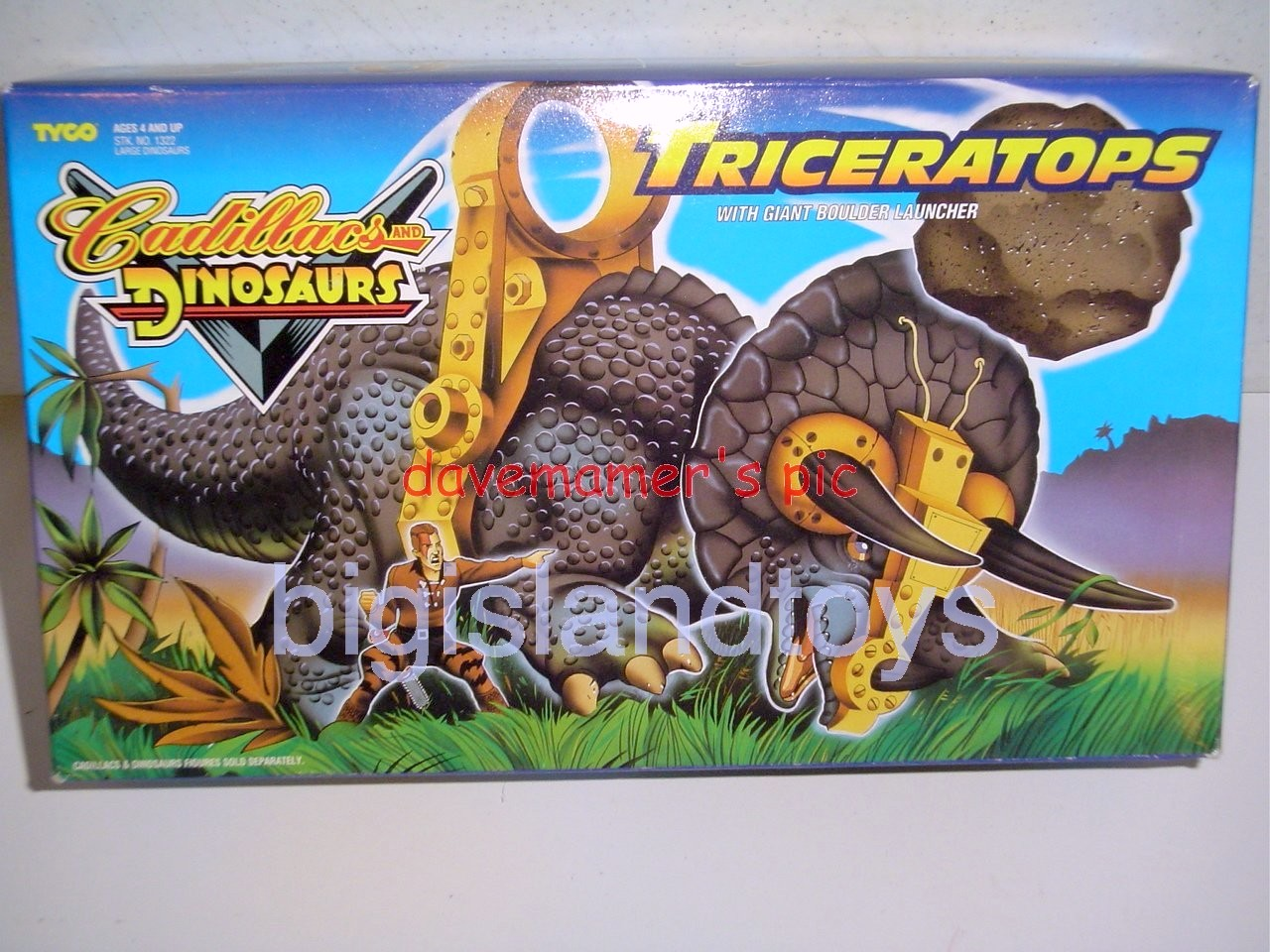 Cadillacs and Dinosaurs    TRICERATOPS with Giant Boulder Launcher
