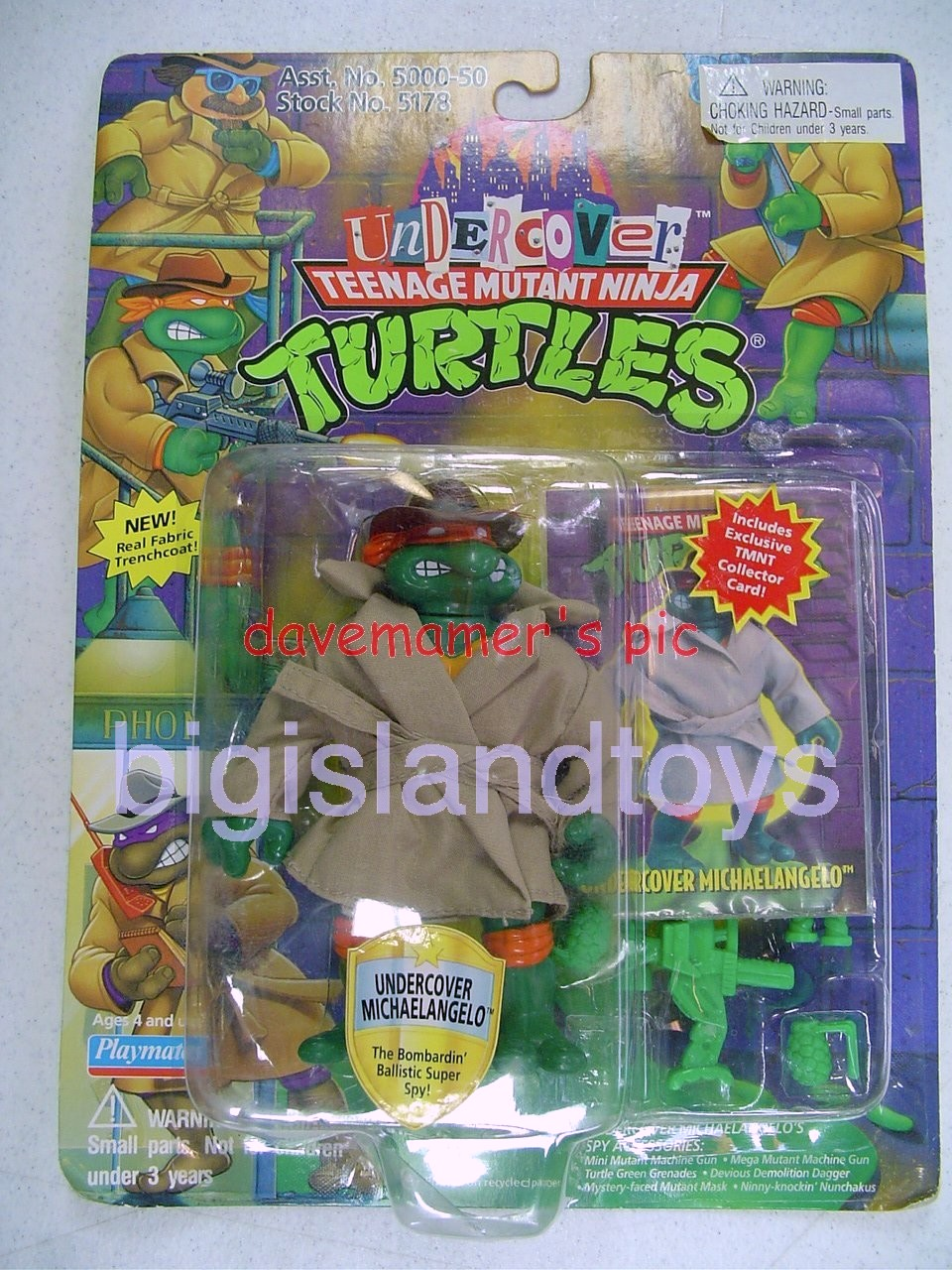 Teenage Mutant Ninja Turtles 1994 Figures   UNDERCOVER MIKE with Cloth Coat