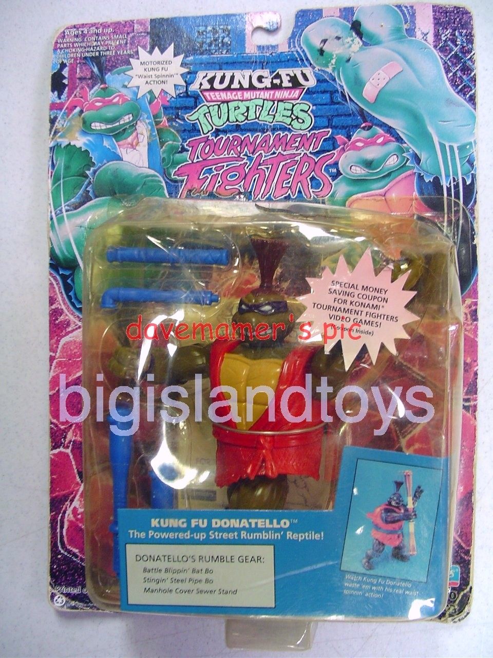Teenage Mutant Ninja Turtles 1994 Figures     KUNG FU DONATELLO