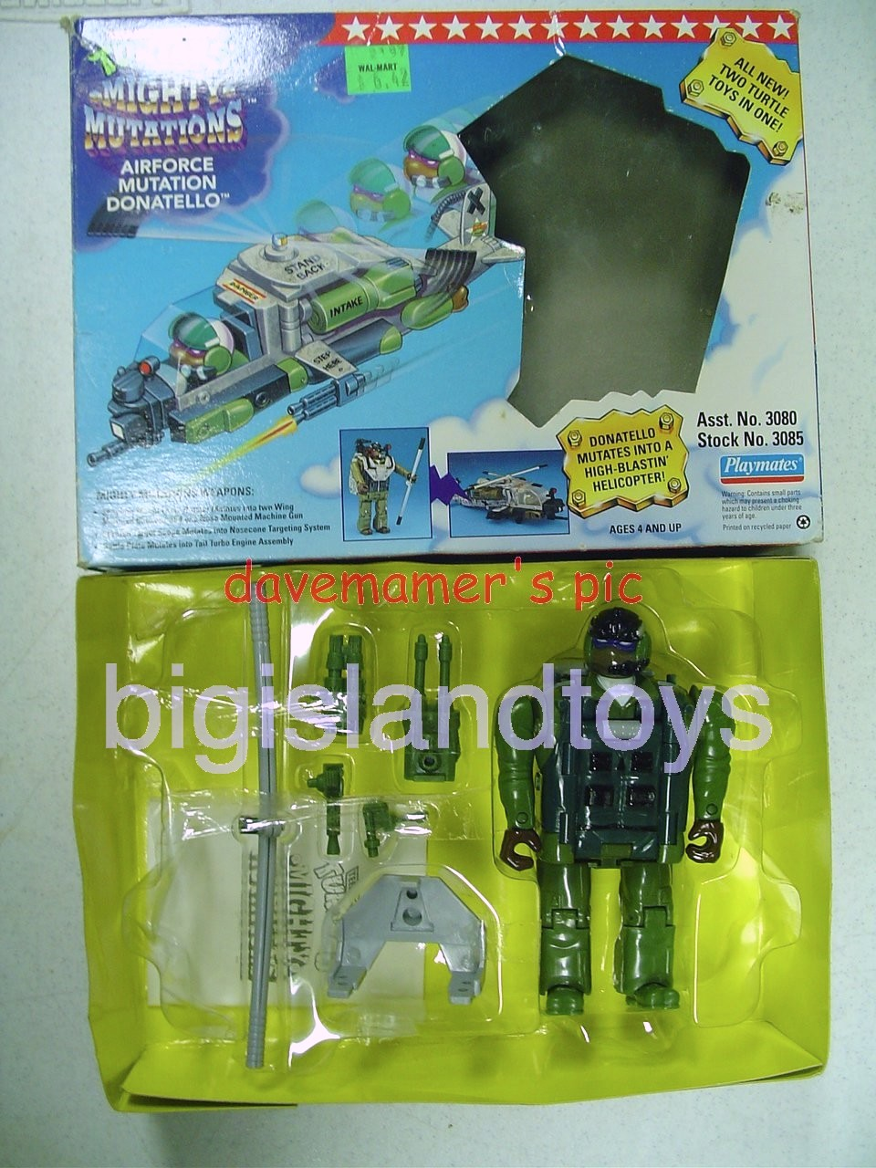 Teenage Mutant Ninja Turtles 1994 Figures      AIRFORCE  DONATELLO Helicopter