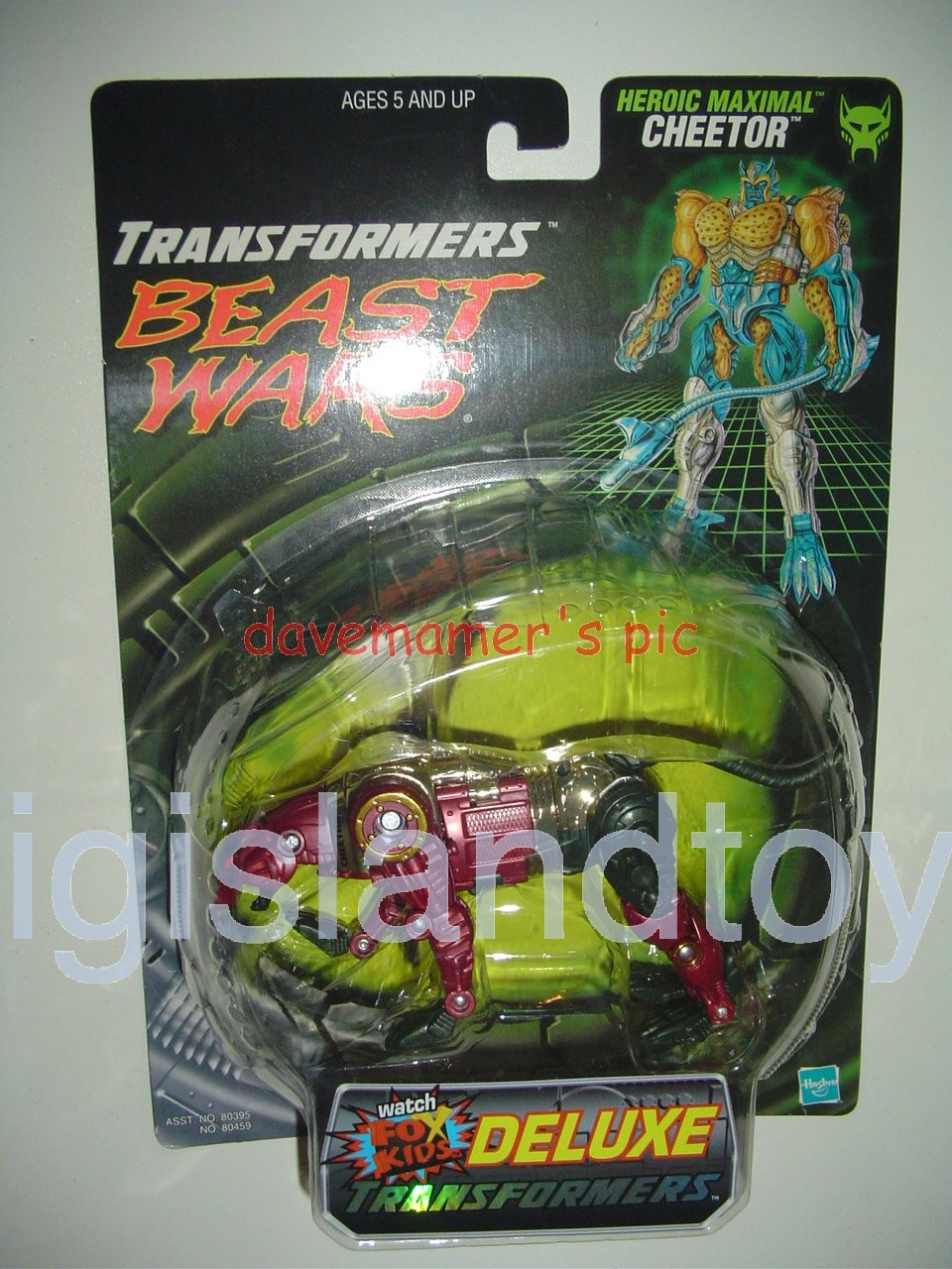 Transformers Beast Wars 1999  Cheetor Fox Kids Transmetals Recolor