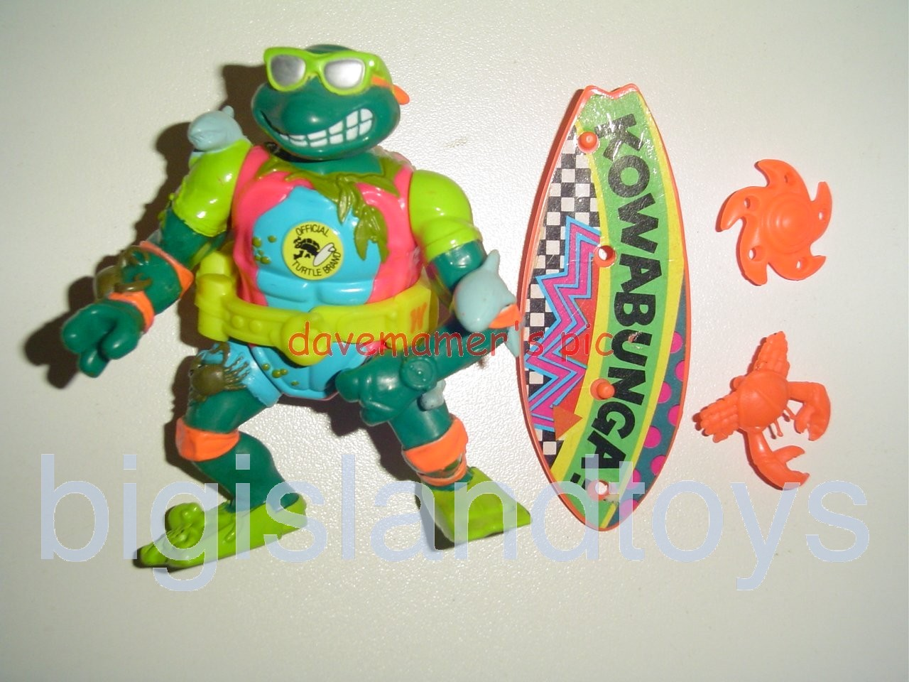 Teenage Mutant Ninja Turtles 1991 Figures   Mike the Sewer Surfer