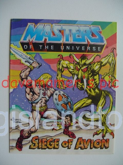 Masters of the Universe Mini Comics   The Siege of Avion