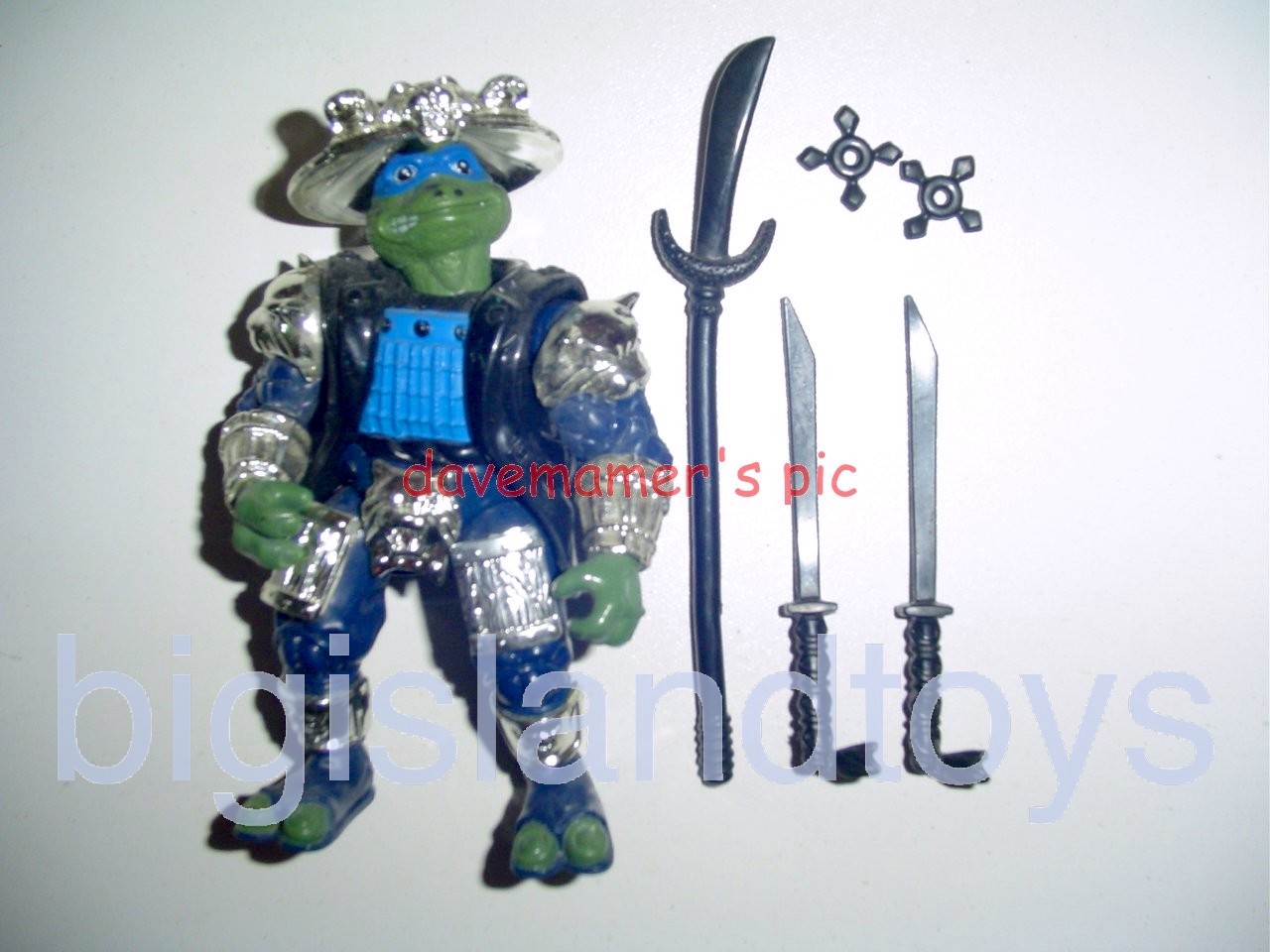 Teenage Mutant Ninja Turtles 1994 Figures   Shogun LEO LEONARDO Silver Armor