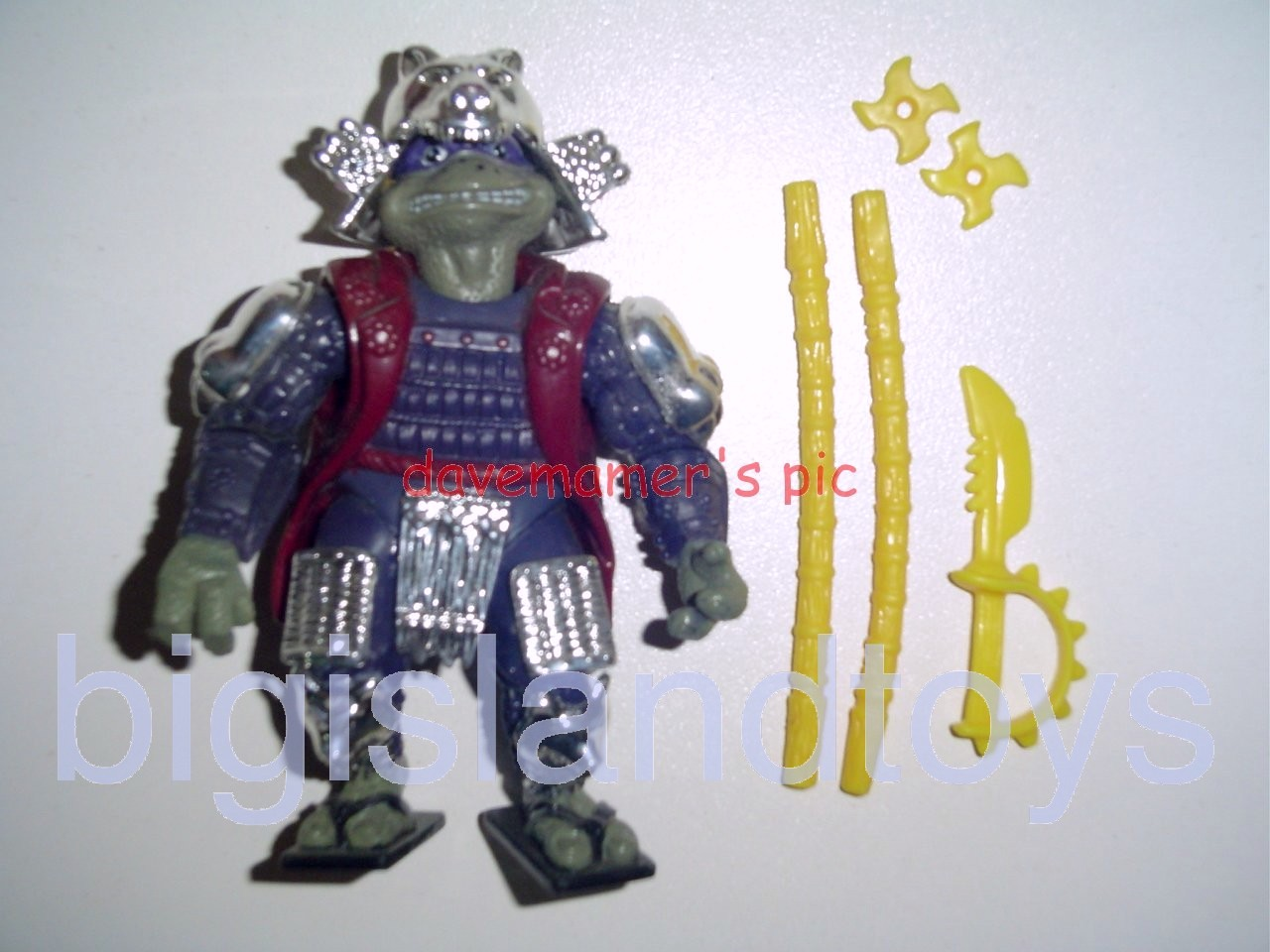 Teenage Mutant Ninja Turtles 1994 Figures   Shogun DONATELLOSilver Armor