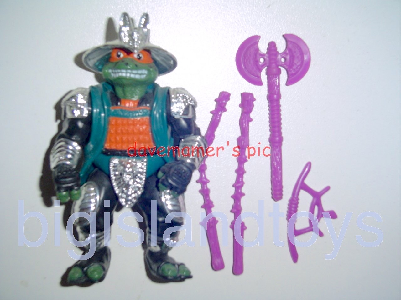 Teenage Mutant Ninja Turtles 1994 Figures   Shogun MIKE MICHAELANGELOSilver Armor