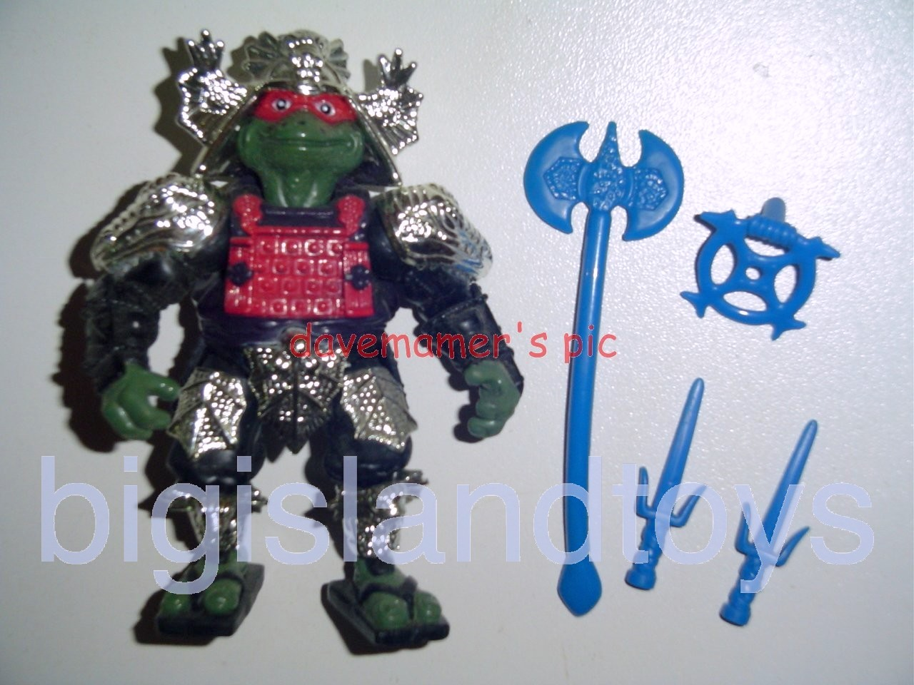 Teenage Mutant Ninja Turtles 1994 Figures    Shogun RAPH RAPHAELSilver Armor