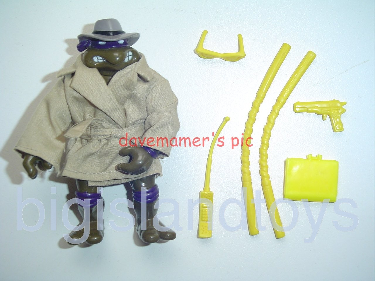 Teenage Mutant Ninja Turtles 1994 Figures   UNDERCOVER DON with CLOTH COAT
