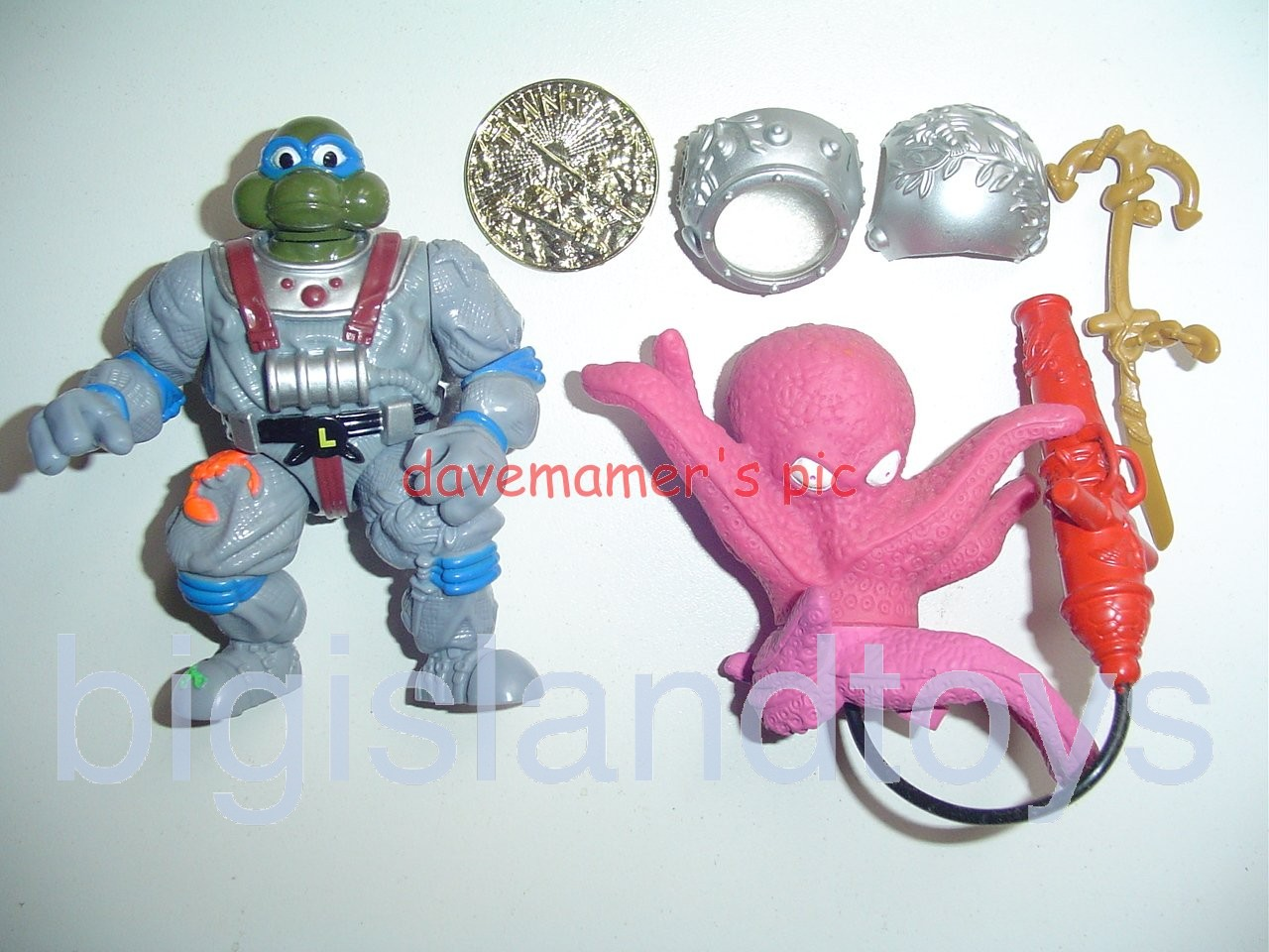 Teenage Mutant Ninja Turtles 1994 Figures   DEEP SEA DIVER LEO