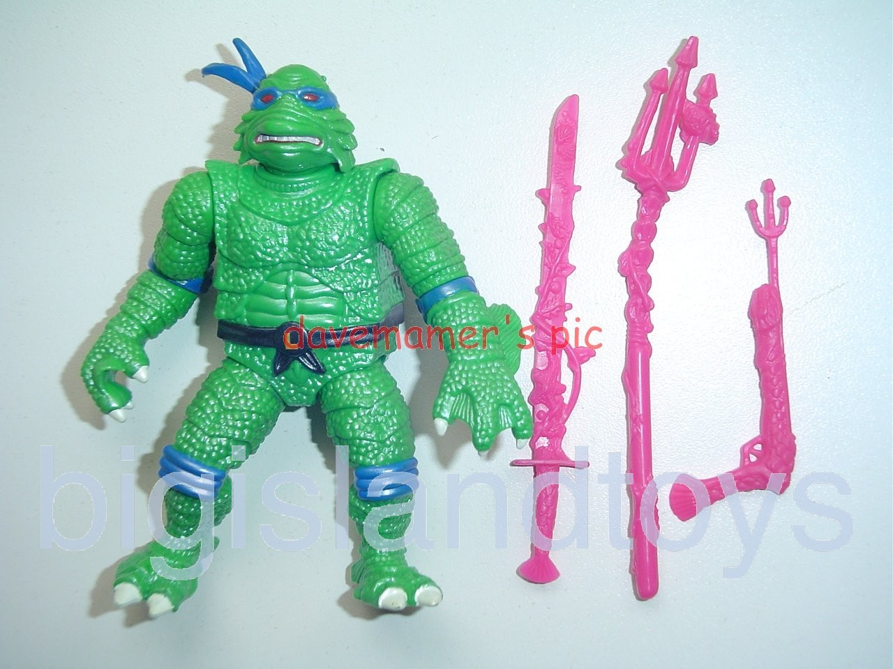 Teenage Mutant Ninja Turtles 1994 Figures      LEO as THE CREATURE FROM THE BLACK LAGOON