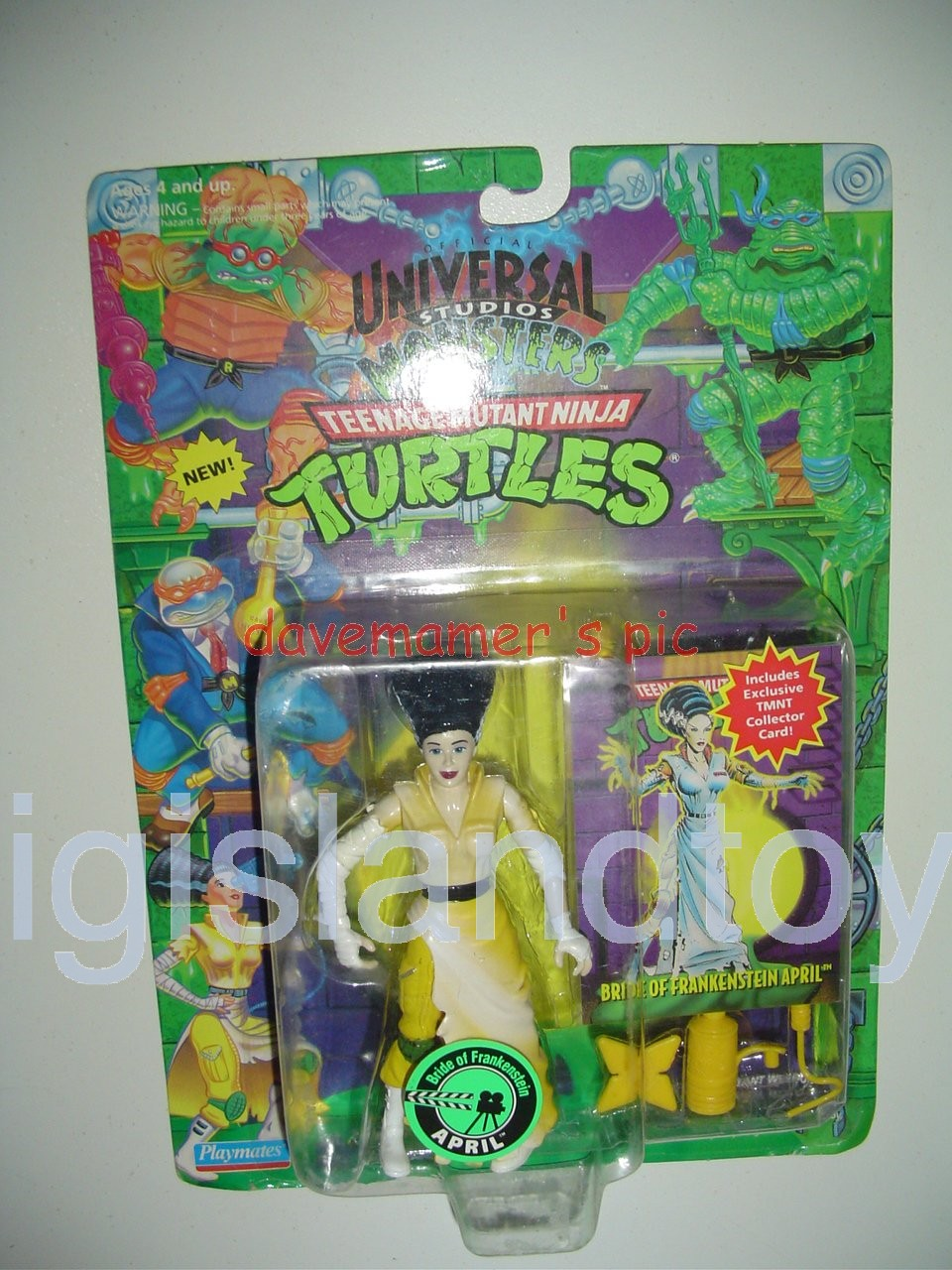 Teenage Mutant Ninja Turtles 1994 Figures   APRIL the BRIDE of FRANKENSTEIN