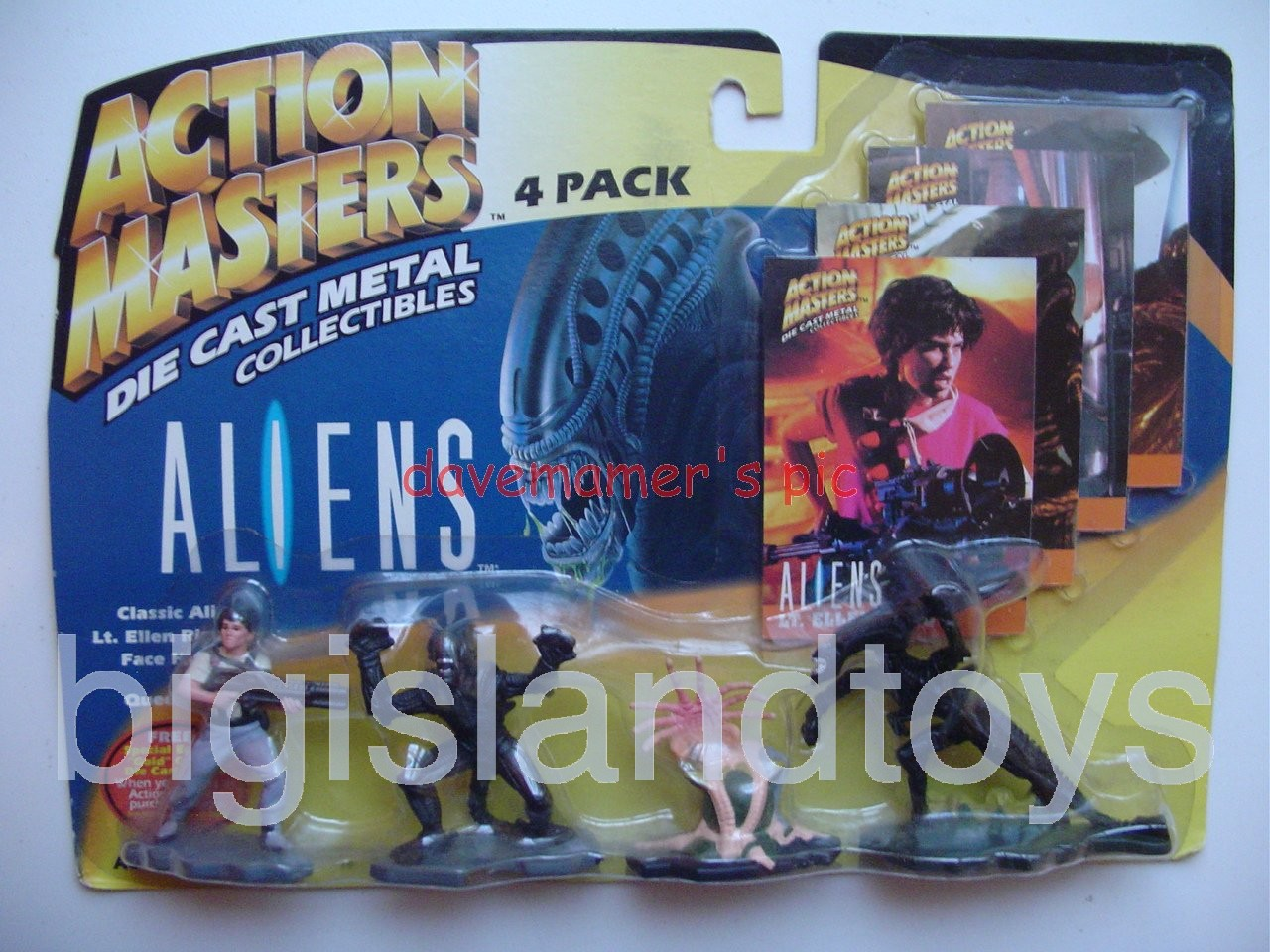 Aliens    Die Cast Action Masters 4 Pack Sealed Queen Ellen Ripley Face Hugger Classic Alien