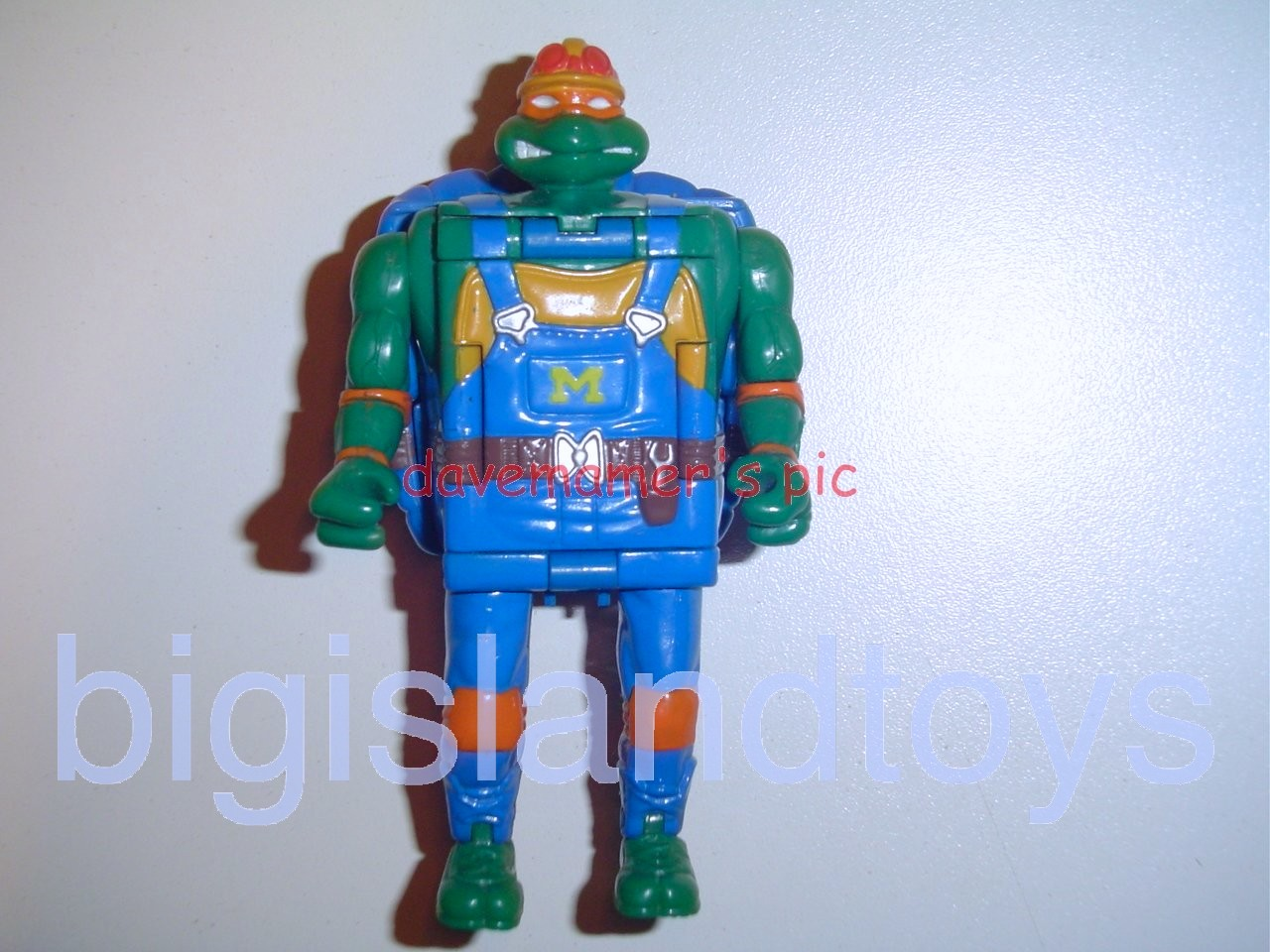 Teenage Mutant Ninja Turtles 1994 Figures      Mutatin MIKE MICHAELANGELO Construction Cement Mixer