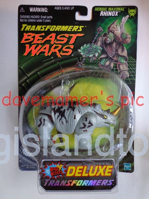 Transformers Beast Wars 1999  Rhinox Fox Kids Original Recolor