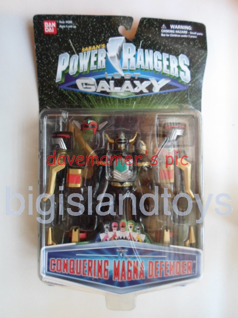 Power Rangers Lost Galaxy Action Figures  Conquering Magna Defender