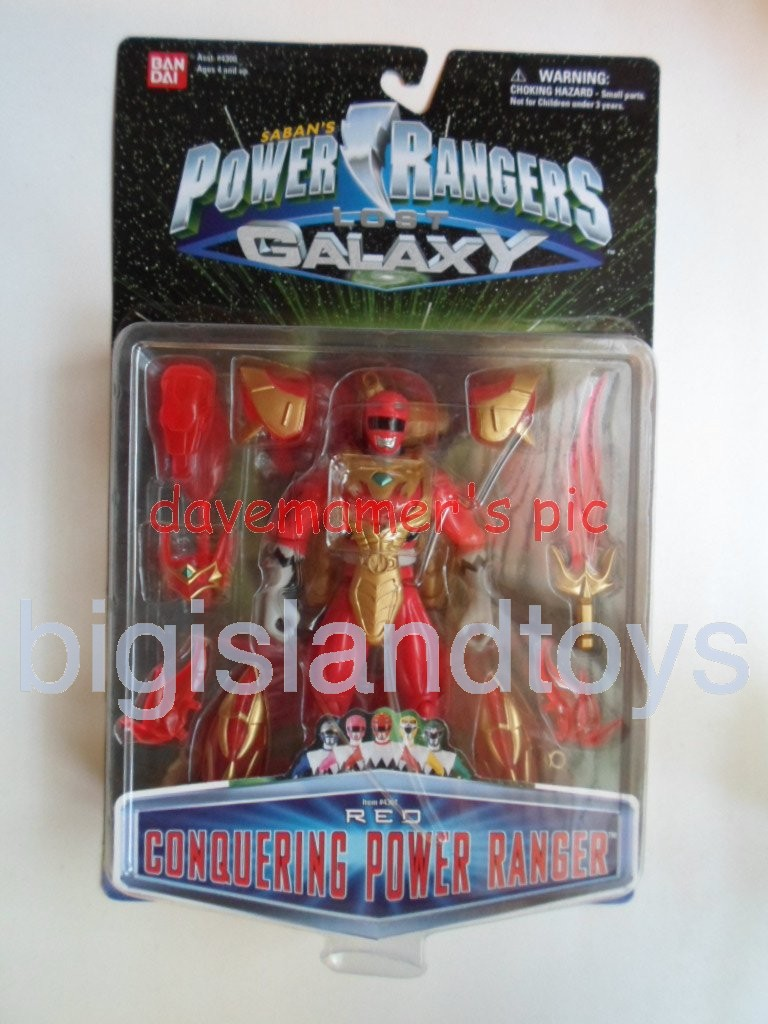 Power Rangers Lost Galaxy Action Figures  Red Conquering Power Ranger