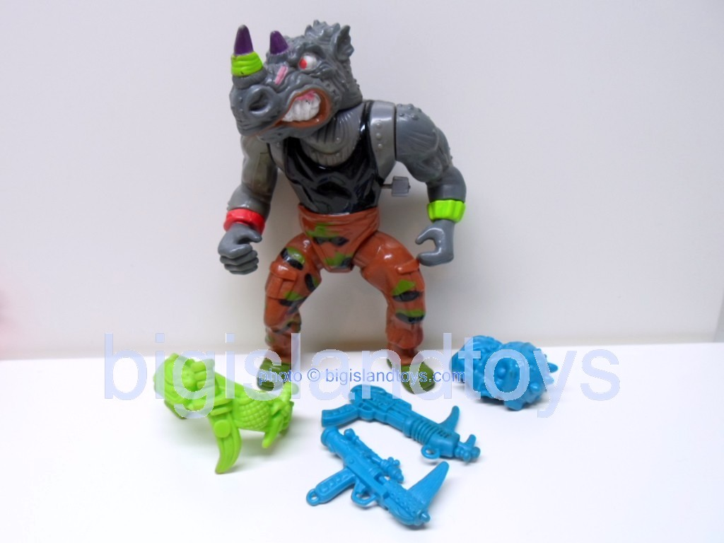 Teenage Mutant Ninja Turtles 1991 Figures   Machine Gunnin Rocksteady