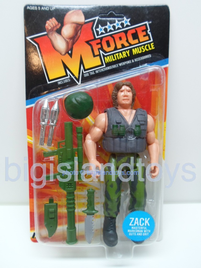 M Force Military Muscle    ZACK Masterful Marksman with Guts and Grit