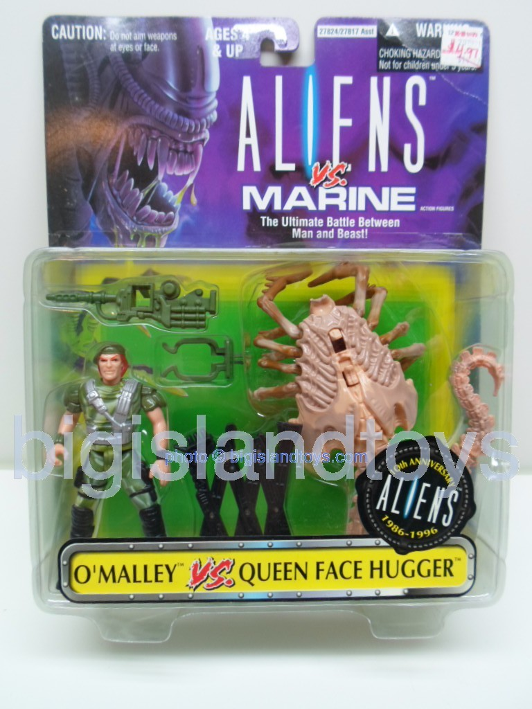 Aliens    O'Malley vs Queen Face hugger