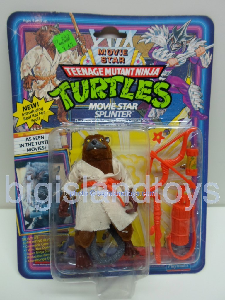 Teenage Mutant Ninja Turtles 1991 Figures   Movie Star Splinterwith tooth