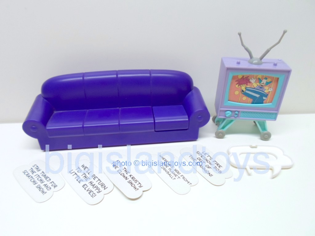 The Simpsons By Mattel   Sofa and Boob Tube