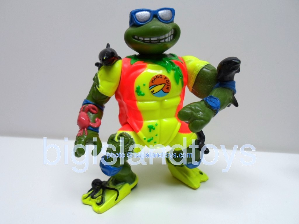 Teenage Mutant Ninja Turtles 1994 Figures        Surfer Leo with Mondo Tube