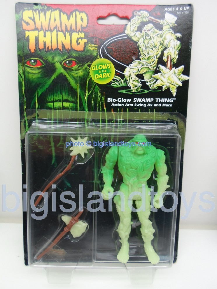 Swamp Thing    BIO GLOW SWAMP THING with action arm swing Ax and Mace