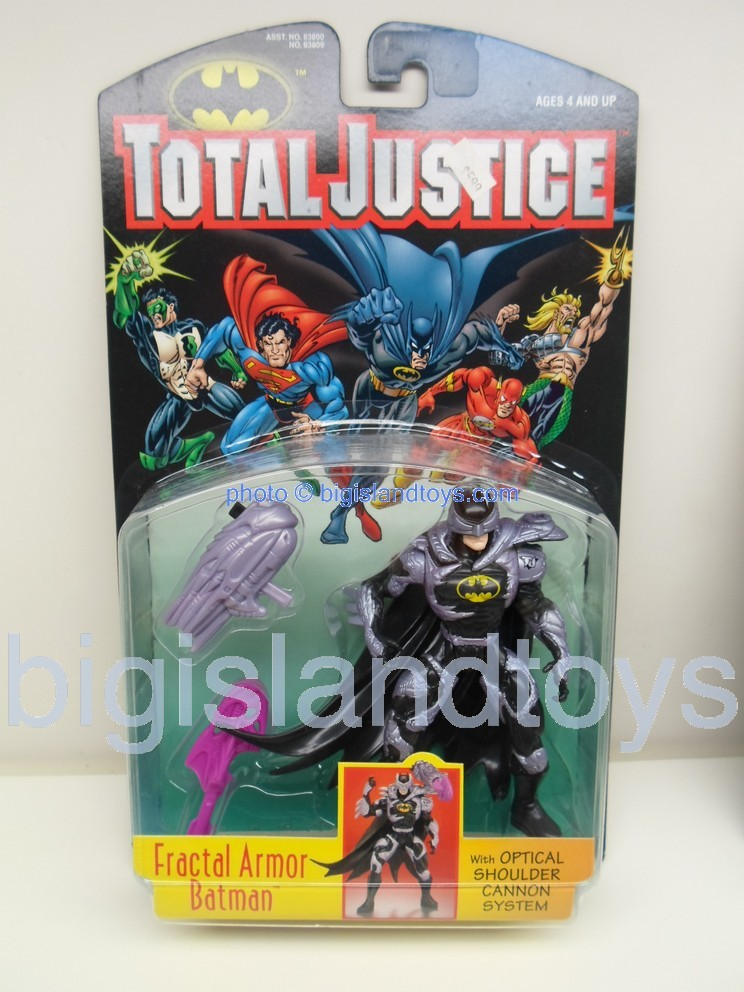 Total Justice    FRACTAL ARMOR BATMAN with optical shoulder cannon system
