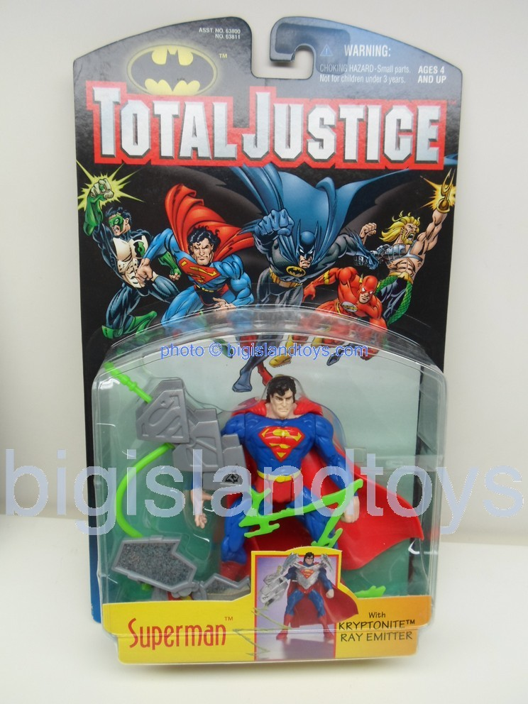 Total Justice    SUPERMAN with Kryptonite Ray Emitter