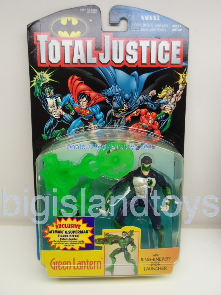 Total Justice    GREEN LANTERN with Ring Energy Disk Launcher