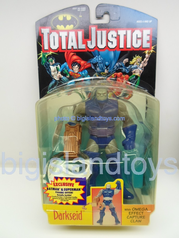 Total Justice    DARKSEID  with Omega Effect Capture Claw Thick Package