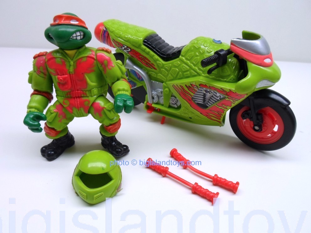 Teenage Mutant Ninja Turtles 1994 Figures   Road Racin Michaelangelo
